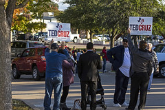 Cruz supporters at Beto Rally