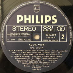 GAL COSTA:AGUA VIVA(LABEL SIDE-B)