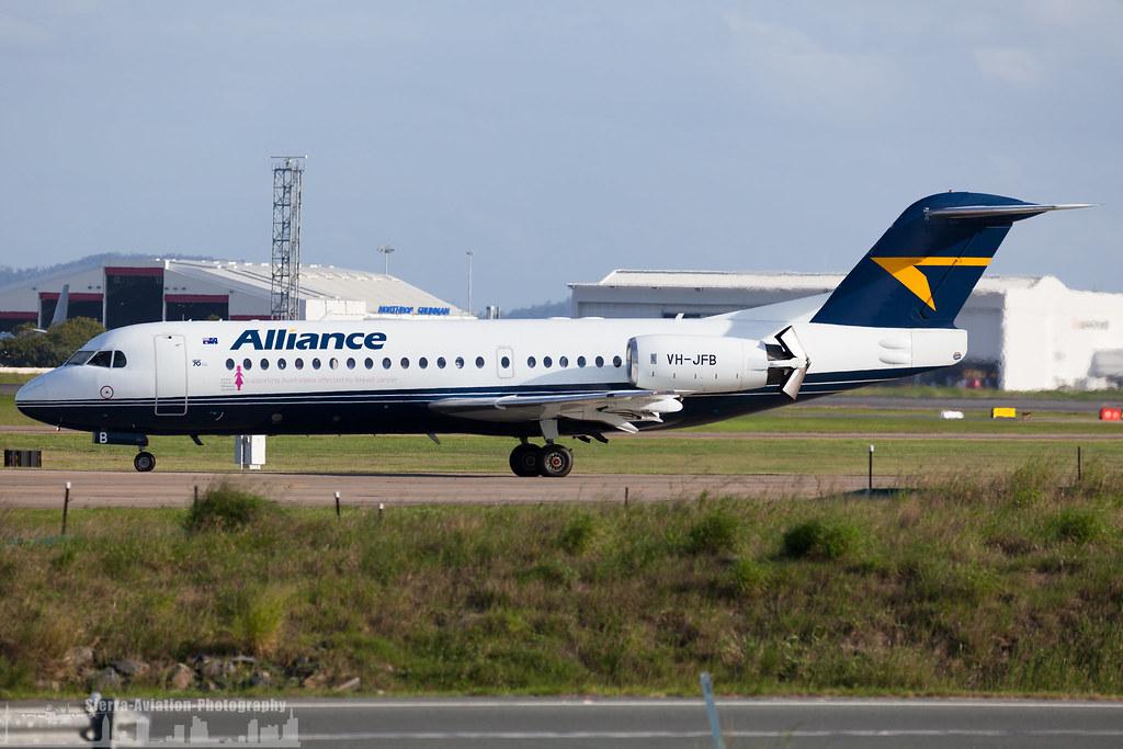 VH-JFB Alliance Airlines Fokker F70 (BNE - Brisbane - YBBN)