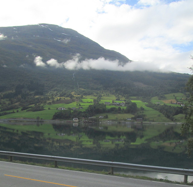 Reflections in Nordfjord, Olden, Norway