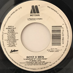 BOYZ II MEN:4 SEASONS OF LONELINESS(LABEL SIDE-A)