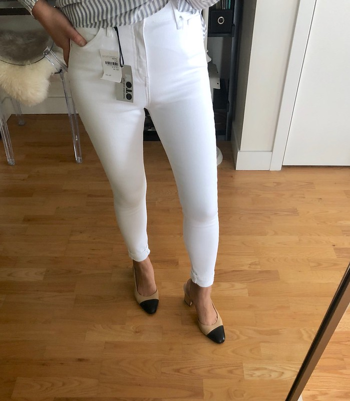 Topshop Jamie High Waist Ankle Skinny Jeans, size 26W x 30L (cuffed)