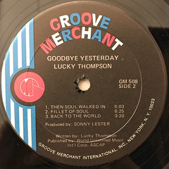 LUCKY THOMPSON:GOODBYE YESTERDAY(LABEL SIDE-B)