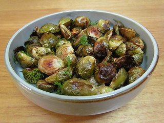 Crispy Roasted Brussels Sprouts with Fresh Herbs