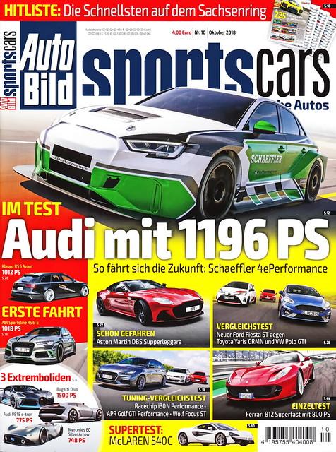 Auto Bild Sportscars 10/2018