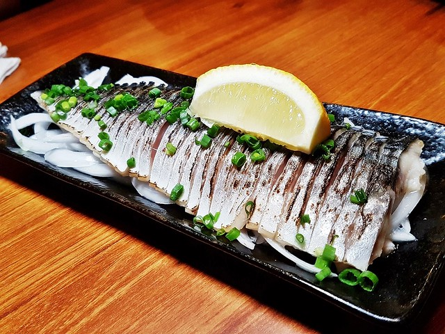 Seared Mackerel Fish Marinated With Vinegar