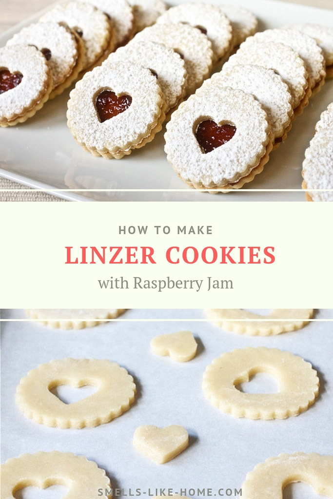 Pecan Linzer Cookies with Raspberry Jame