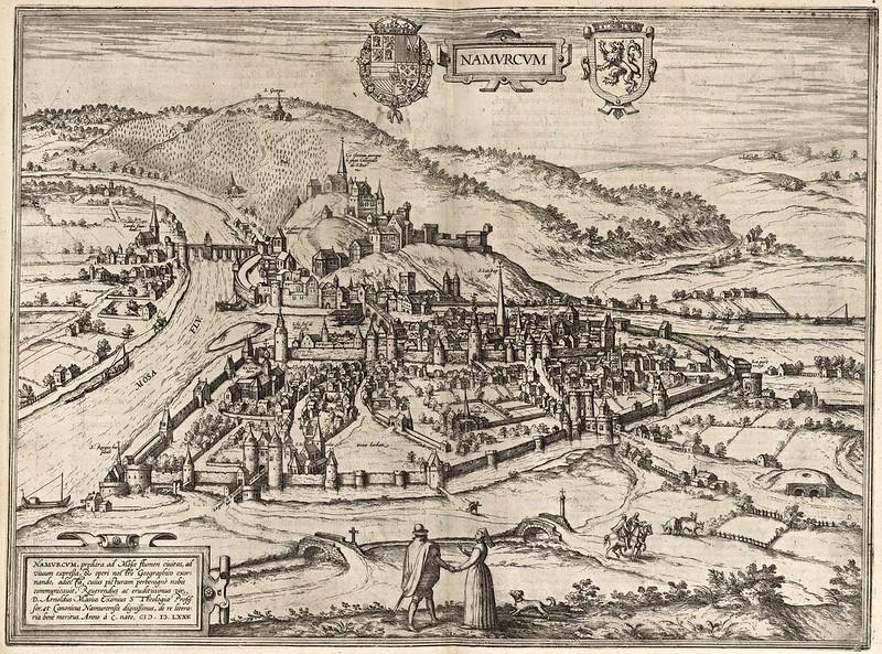 Georg Braun & Franz Hogenberg - Namurcum (Namur) (1575)