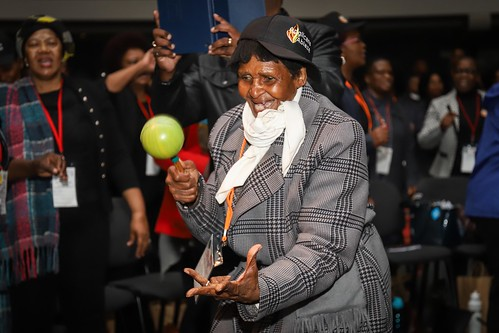 Anglicans Abalze 2018 - An elderly Anglican woman dancing during the conference