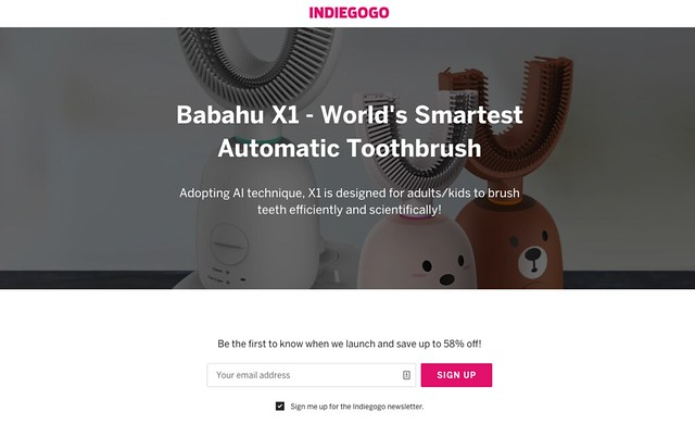Babahu X1 - World's Smartest Automatic Toothbrush | Indiegogo 2018-10-07 18-11-00