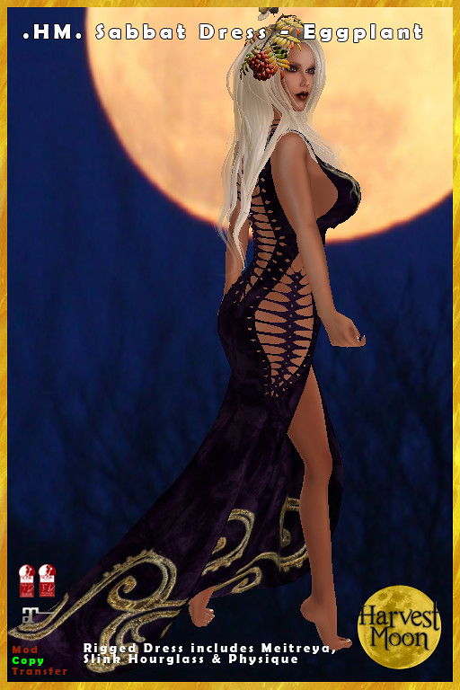 Harvest Moon – Sabbat Dress – Eggplant