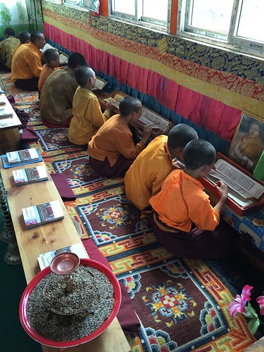 Children studying Buddhist texts. From blog.archive.com