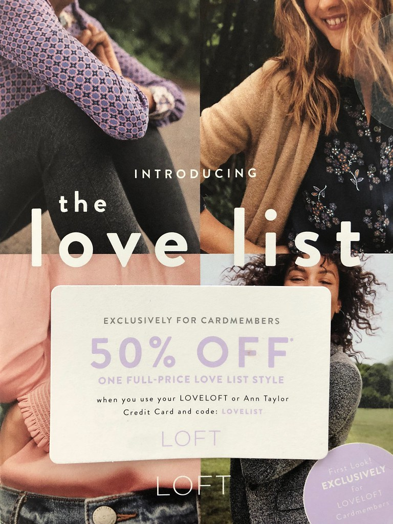 LOVELOFT Cardmember Code: LOVELIST (Valid through 9/24/18 )