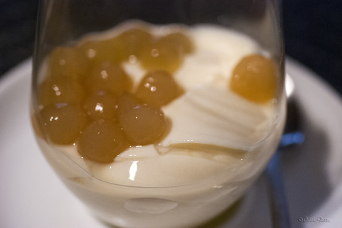 Soft tofu and tapioca pearls