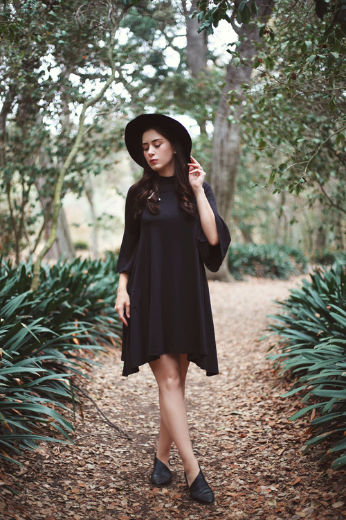 Paisley Raye Lotus Dress in Black