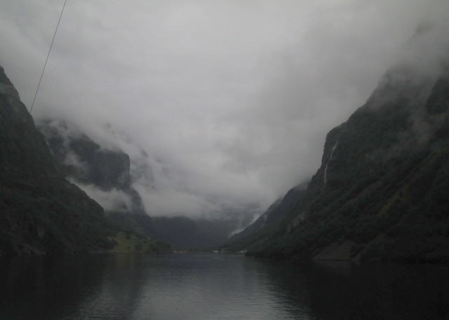 Towards Head of Nærøyfjord, Norway