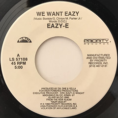 EAZY-E:WE WANT EAZY(LABEL SIDE-A)