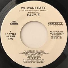 EAZY-E:WE WANT EAZY(LABEL SIDE-A)