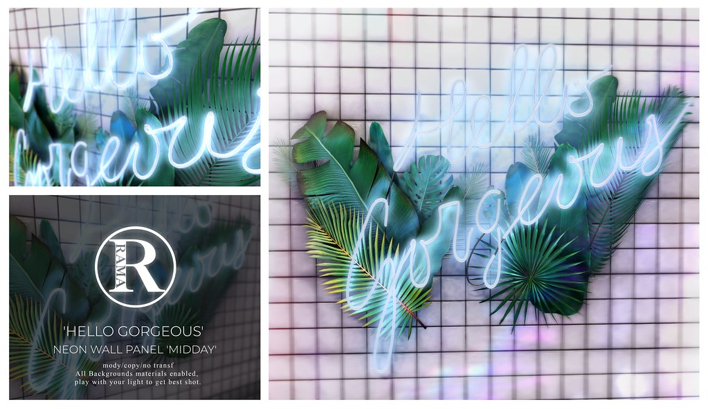 #selfie_RAMA – 'Hello Gorgeous' Neon Sign 'Midday' @equal10