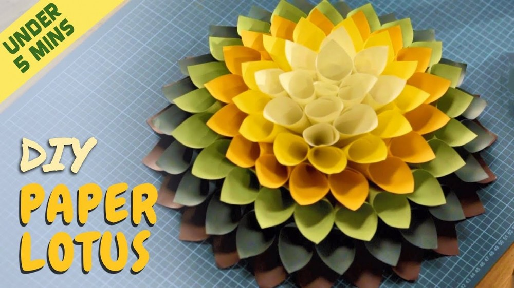 The Art Room Diy Paper Lotus Under 5 Minute Easy Paper