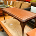 E35 mahogany and leather coffee table