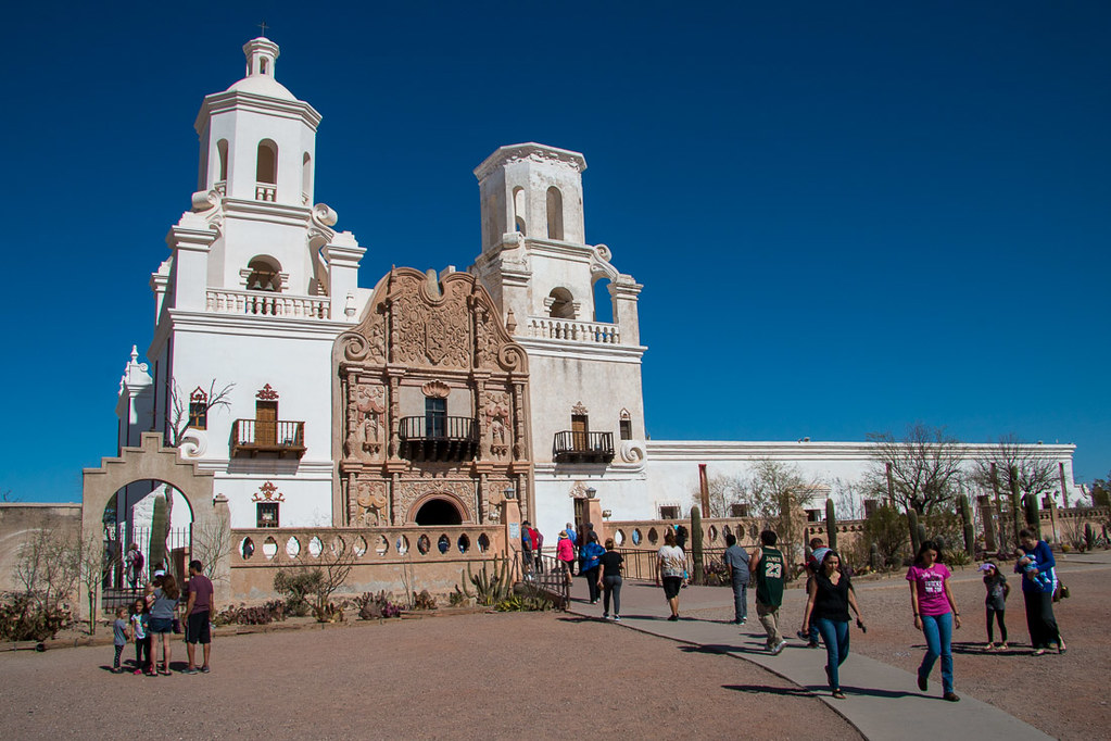 Crowds at Mission San Xavier