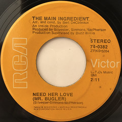 THE MAIN INGREDIENT:NEED HER LOVE(MR. BUGLER)(LABEL SIDE-A)