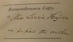 Penn Libraries 811W 1875: Inscription
