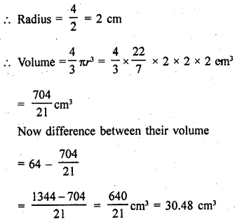 RD Sharma Class 9 Solutions Chapter 21 Surface Areas and Volume of a Sphere