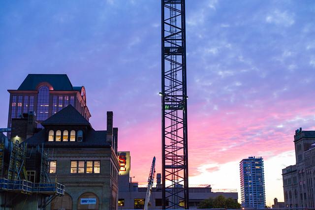 Crane Sunset