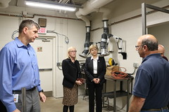Reps. Zawistowski and Hall tours the Expanded Manufacturing Technology Programs area at Asnuntuck