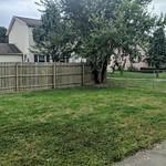 Backyard is fenced