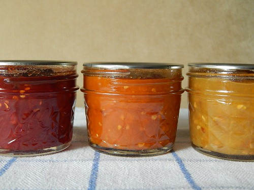 Red, Orange, and Yellow Tomato Jam