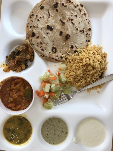 Indian cafeteria lunch