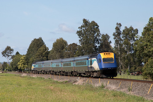 NSW Trainlink XPT NT32 powers towards Grafton.