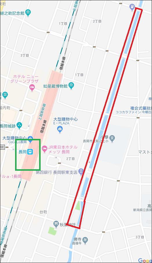 長岡市   Google 地圖