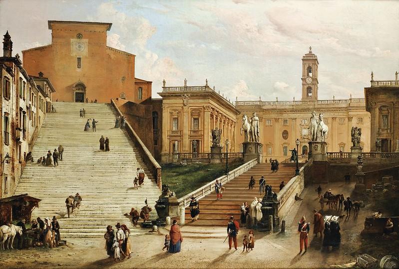Carlo Ferrari dit le Ferrarin - Vue du Capitole, Rome