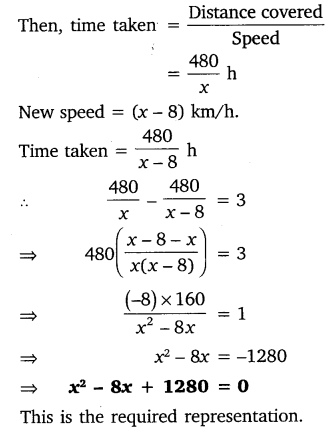 NCERT Solutions for Class 10 Maths Chapter 4 Quadratic Equations 1