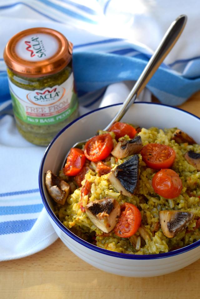 Roasted Tomato & Mushroom Pesto Rice