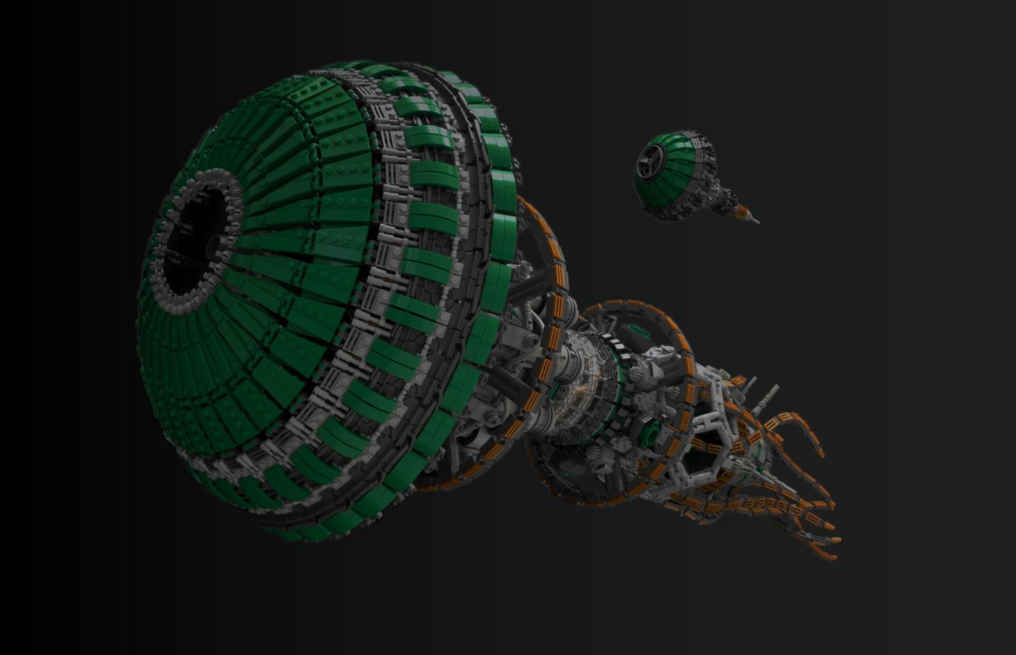 лего самоделка космический корабль