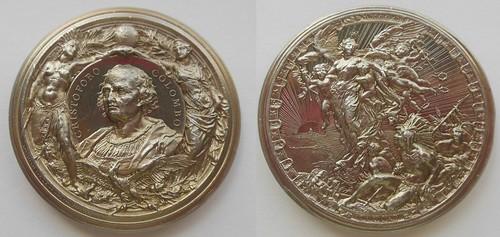 1893 Milan Columbian Exposition Medal White Metal