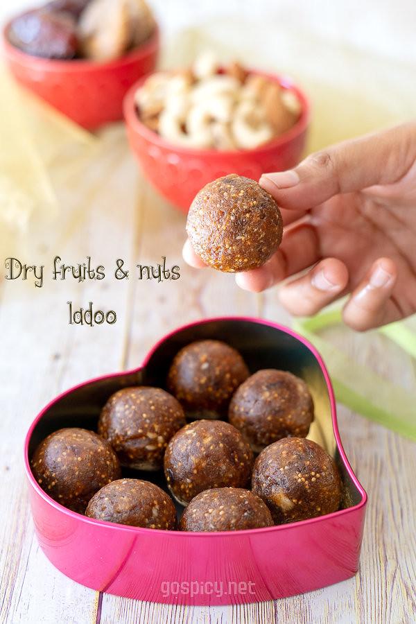 Dry Fruits Laddu Recipe by GoSpicy.net/