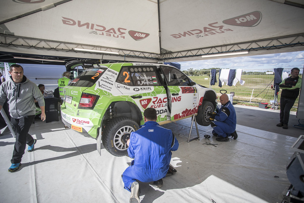 HERCZIG Norbert (HUN), FERENCZ Ramon (HUN), MOL RACING TEAM, Skoda Fabia R5, ambiance during the 2018 European Rally Championship PZM Rally Poland at Mikolajki from September  21 to 23 - Photo Gregory Lenormand / DPPI