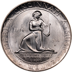 Cincinnati commemorative half dollar reverse