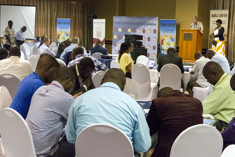 Devotions on the final day of ABLI 18. Picture by Bible Society, Andrew Boyd