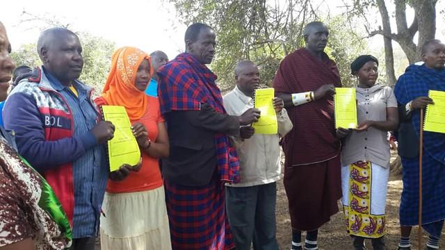 ALOLLE village representatives in Kiteto, Tanzania