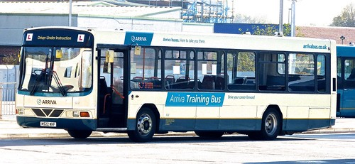 M522 WHF 'Arriva' North West' No. 8232 'Arriva Training Bus'. Volvo B10B / Wright Endurance on 'Dennis Basford's railsroadsrunways.blogspot.co.uk