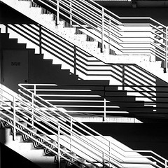 Can't stop stairing :flushed: A play on the early morning light and shadows of some local emergency exit stairs. I like the symmetry and lines. Had to check a few levels of the parking lot to find the best angle to capture this scene. #icu_architecture #j