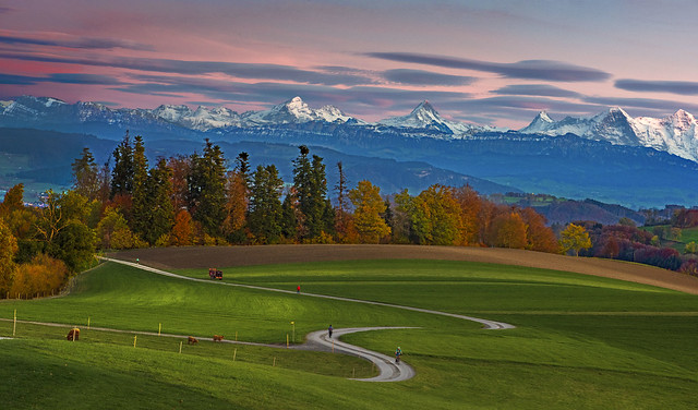 Autumn's  Alpine Panorama , taken from Gurten . Canton of Bern, Switzerland .izakigur 25.10.17, 18:38:25 .