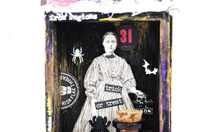 Meihsia Liu Simply Paper Crafts Mixed Media Spooky Halloween Simon Says Stamp Tim Holtz 3